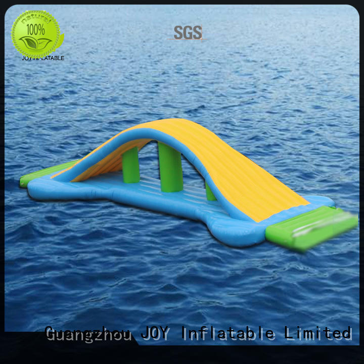 JOY inflatable floating water trampoline personalized for child