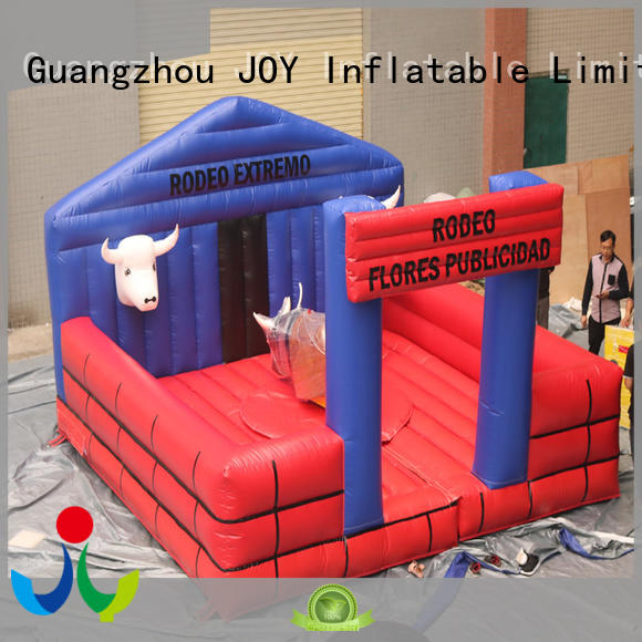 JOY inflatable canvas mechanical bull riding series for children